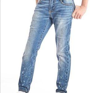 GAP Kids, boy's size 7 stylish painted jeans